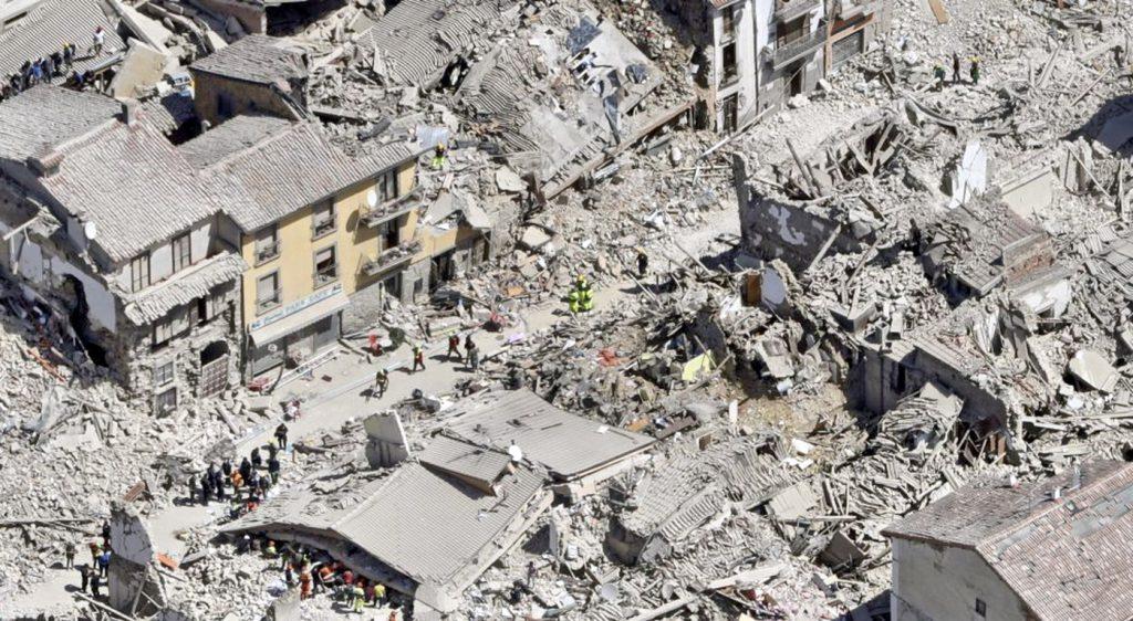 Terremoto-emergenza-soccorso con drone